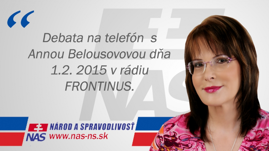 VIDEO: Anna Belousovová v rádiu Frontinus